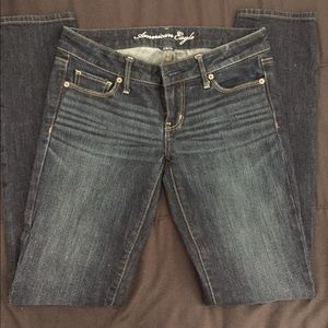 American Eagles Skinny Stretch Blue Jeans Size 4